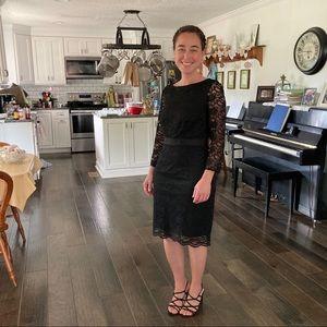 The Limited Black Lace Sheath Dress, Size 6